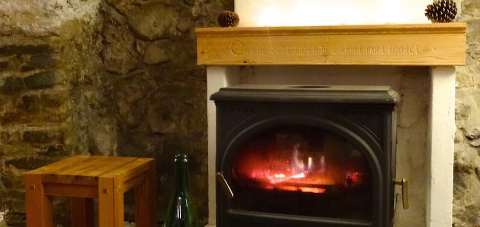 Confort et agrément du poële à bois, en plus du chauffage central gaz